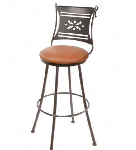 Usa-made 25-inch Bistro Barstool Through  Faux Leather Seats