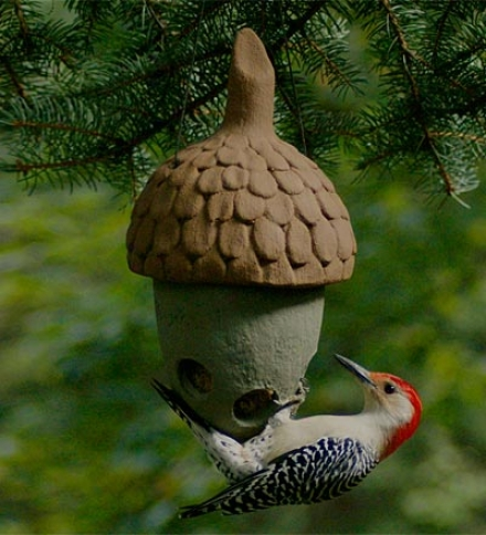 Usa-made Acorn-shaped Suet Feeder For Songbirds