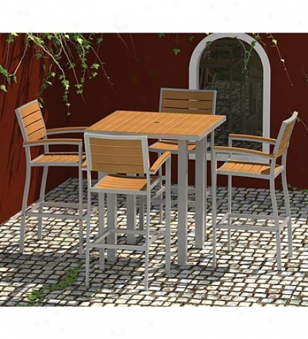 Usa-made Euro Plastique Bar-height Outdoor Table