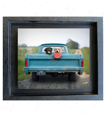 Usa-made Fetch Framed Mini Print By Ron Schmidt
