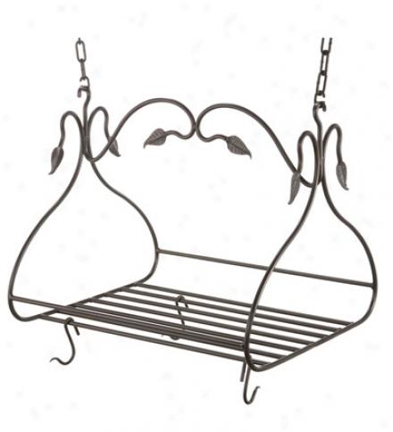 Usa-made Hand-forged Iron Gourmet Pot Rack