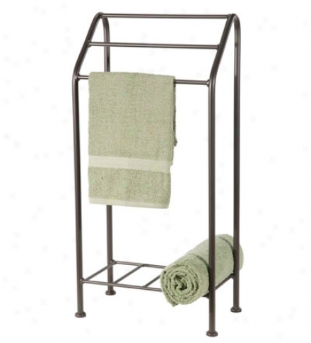Usa-made Hand-foorged Iron Monticello Towel Stand