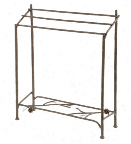 Usa-made Hand-forged Iron Pine Blanket Stand