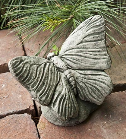 Usa-made Handcraffted Cast-stone Butterfly