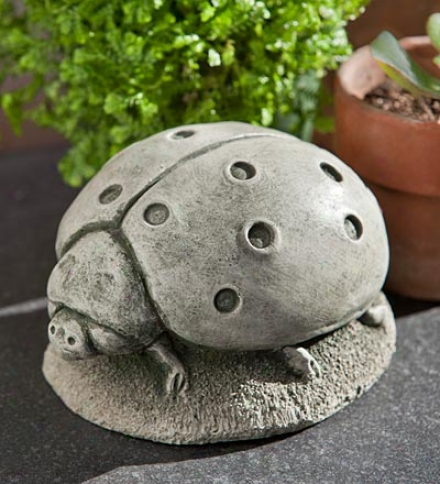 Usa-made Handcrafted Cast-stone Ladybug