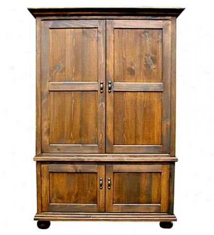 Usa-made Handcrafted Solid Pine Tv Armoire Entertainment Center With Pocket Doors