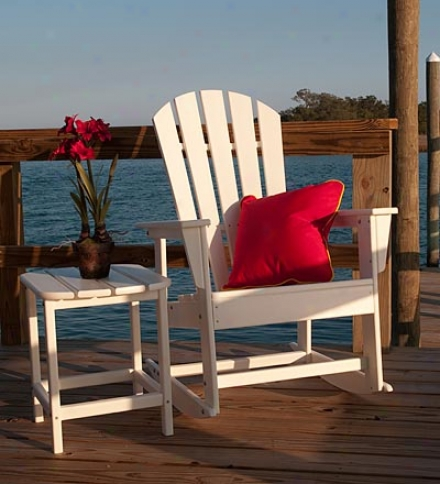 Usa-made South Beach Poly-wood™ Outdoor Adirondack Rocker