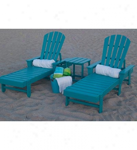 Usa-made South Beach Poly-wood™ Outdoor Chaise