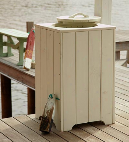 Usa-made Southern Pine Wood Indoor/outdoor Trash Bin
