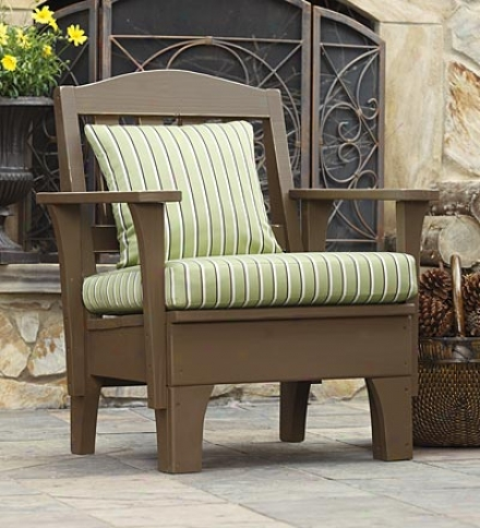 Usa-made Southern Pine Wood Outdoor Westport Chair Cushion