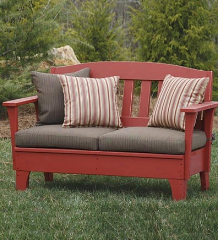 Usa-made Southern Pine Wood Outdoor Westport Settee