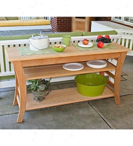 Usa-made Western Red Cedar Buffet Table