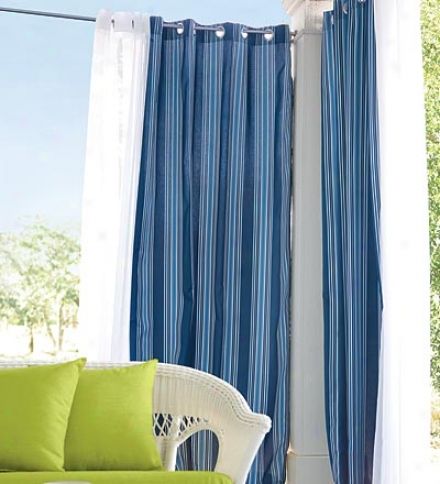 "Uv-resistant Outdoor 50""w X 108""l Grommet-top Solid Curtain"