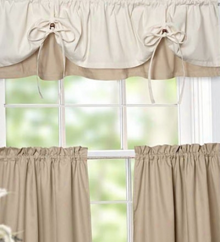 Versa-tie Valance With Adjustable Drawstrings