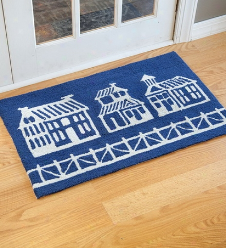 Washable Polyester Hand-hooked Hosues Rug