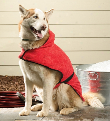 Water-absorbing Quick-fastening Bathrobe For Medium Dogs