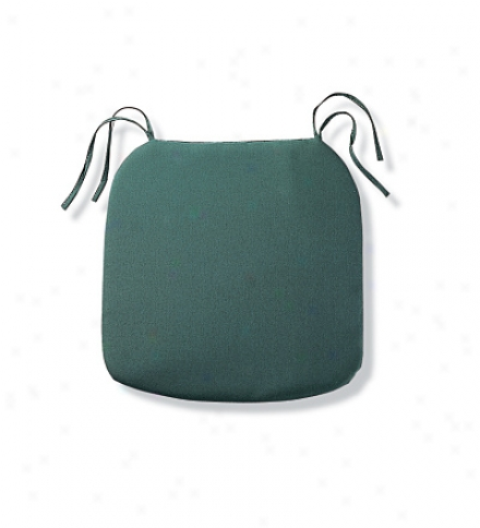 "Weathdr-resistant Classic Trapezoid Chair Cushion With Ties19-1/2"" X 19"" X 3""h"