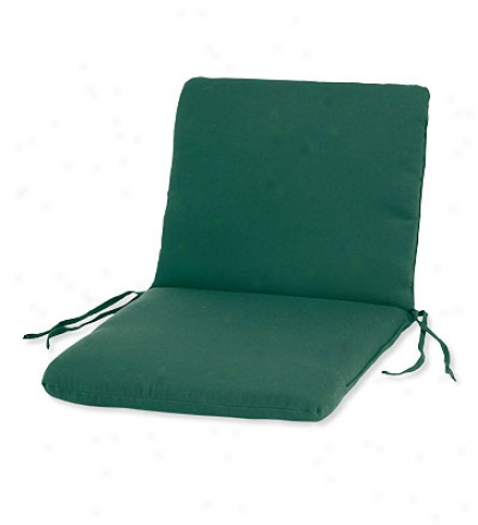 "Weather-resistant Outdoor First-rate work  Highback Chair Cushion By the side of Ties46"" X 20""; Hinged 19"" From The Bottom"