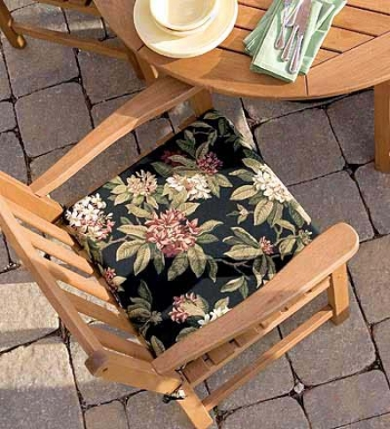 "Weather-resistant Outdoor Classic Square Chair Cushion With Ties18-1/"" X 16-1/2"" X 2-1/2""h"