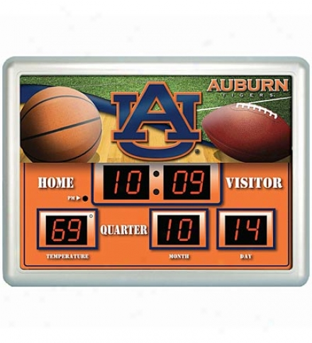 Weather-resistant Outdoor Collegiate Scoreboard Clock/thermometer