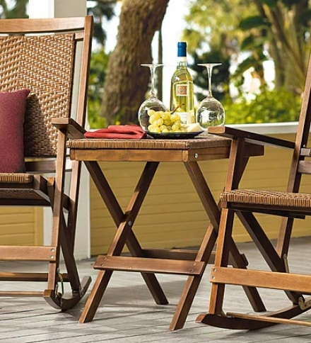 Weather-resistant Outdoor Folding Wooden Table