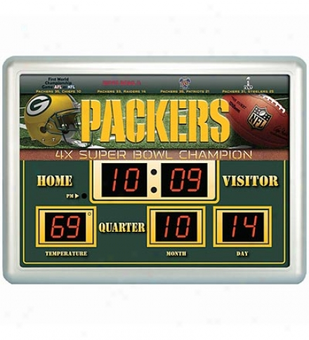 Weather-resistant Outdoor Nfl Scoreboard Clock/thermometer