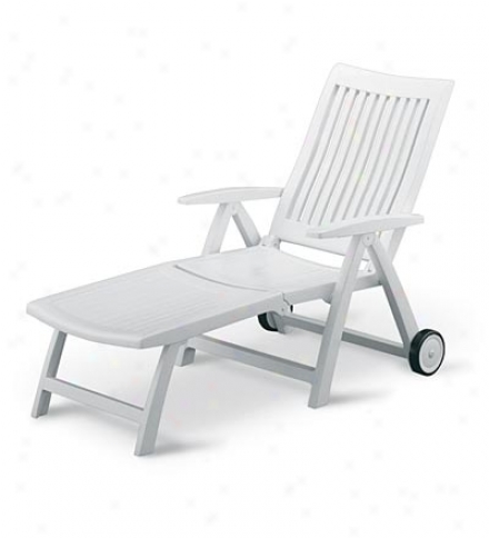 Weatherproof Roma Resin Wheeled Lounger Patio Chaise
