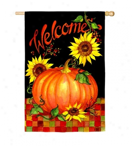 Welcome Harvest Nylon House Flag