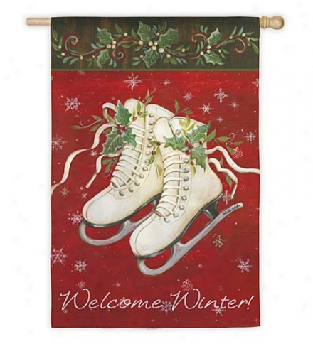 Welcome Winter Nylon House Flag