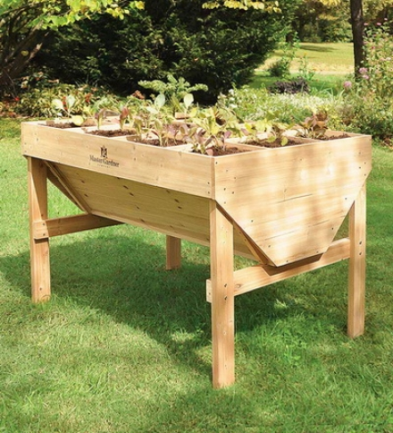 White Cedar Square Foot Raised Bed Gardening Table