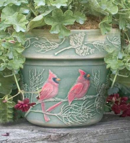 Winter Cardinal  Planter