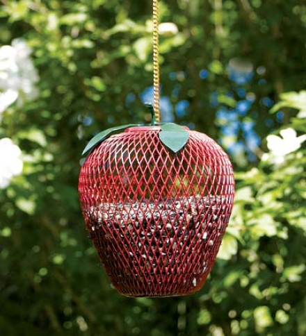Telegraph Mesh Apple Hanging Bird Feeder