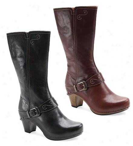 Women's Dansko Rylan High-heeled Full-grain Leather Dress Boots