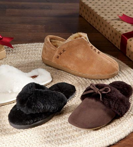 Women's Fleece Bootie-style Slippers