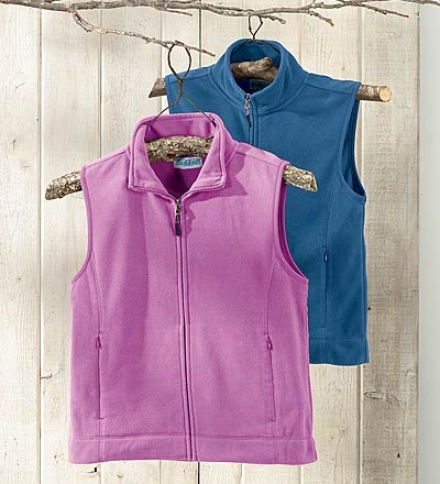 Women's Lightweight Microfleece Veqt With Princess Seams