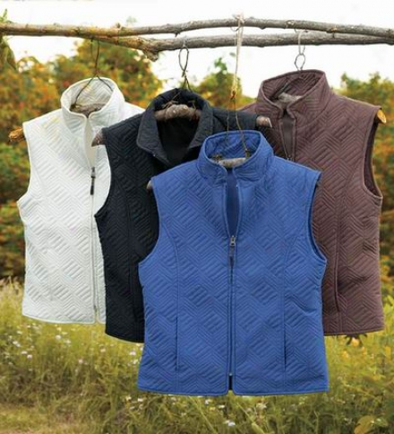 Women's Quilted Microfiber Zip Fit with a ~ Vest