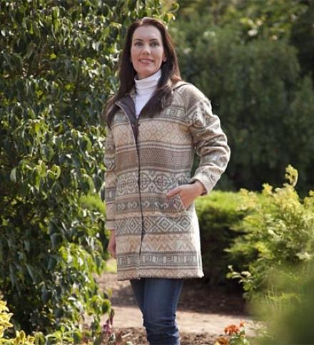 Women's Woo1 Blend Woolrich??  Jacquard Cappte Coat