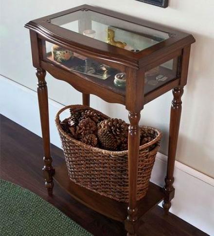 Wood Curio Table