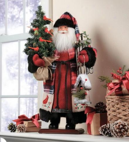 Woodland Santa With Tree