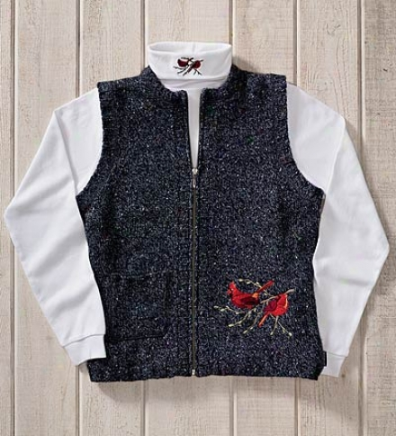 Wool Embroidered Principal Vest