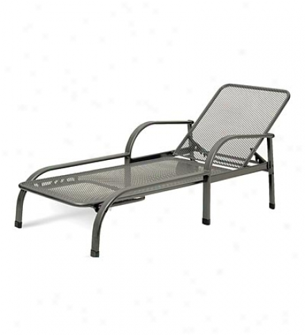 Wroughy Iron Outdoor Lounger