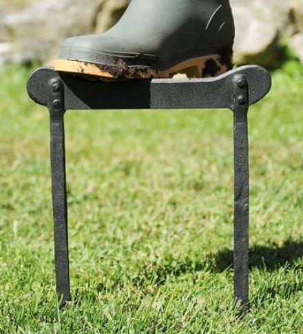 Wrought Iron Powder-coated Boot Scraper