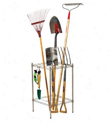 Yard And Garden Tool Organizer Rack