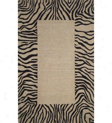"Zebra Border Rug, 24""w X 36""l"