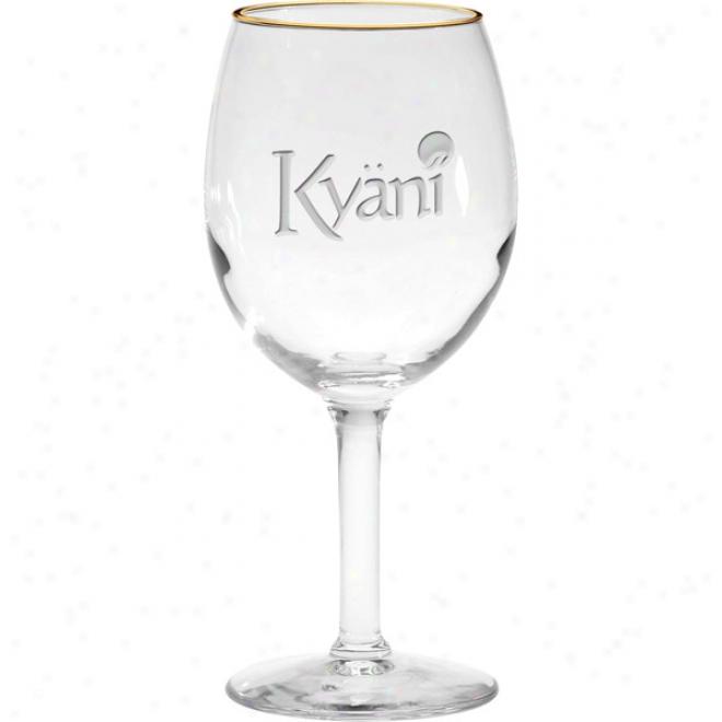 11 Oz. Stillness Etched White Wine Glass