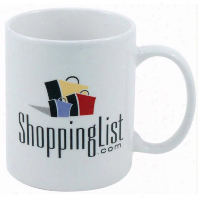 11oz. Decal Fine Porcelain Diplomat Mug