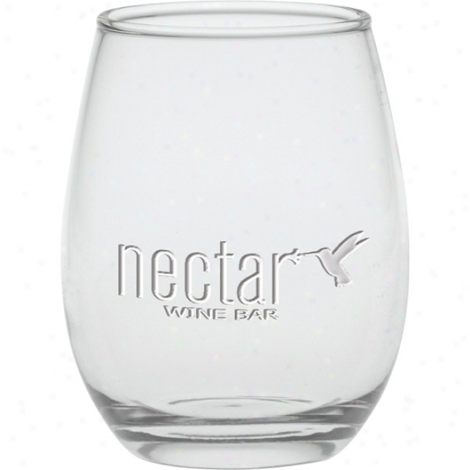12 Oz. Deep Etched Stemless Wine Glass