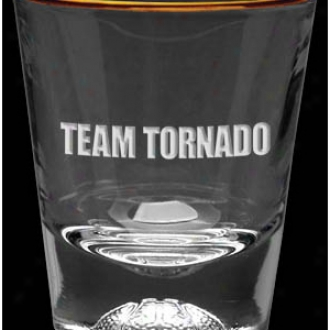 1.5 Oz Deep Etched Basketball Sport Shot Glass