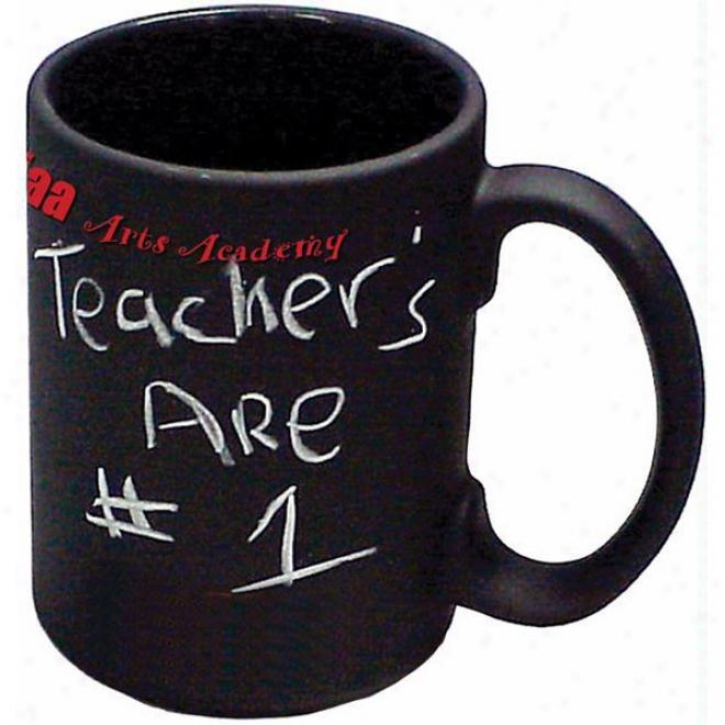 15oz. Black Chalkboard Mug