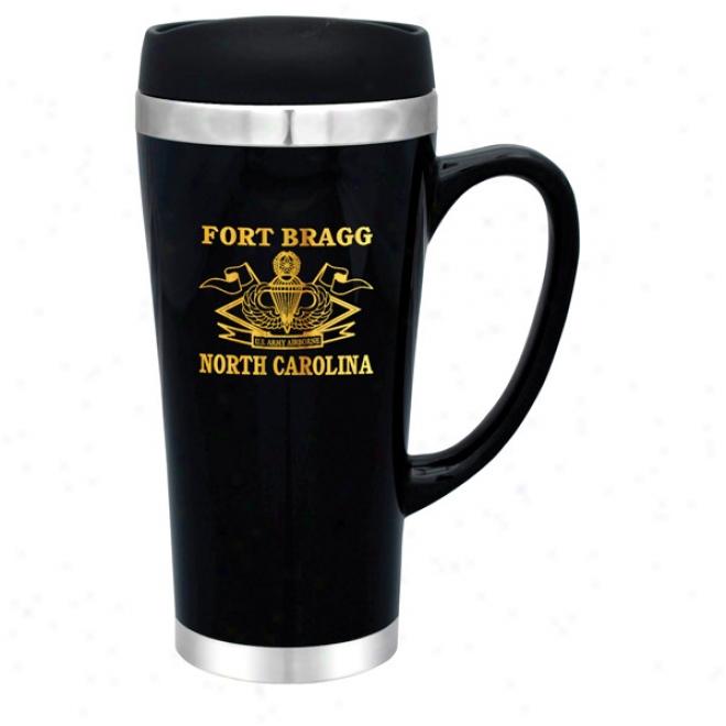 16 Oz. Black Steel City Mimic Travel Mug